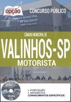Apostila Câmara Municipal de Valinhos / SP, MOTORISTA