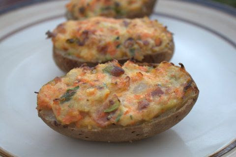 Veggie Loaded Twice-Baked Potatoes