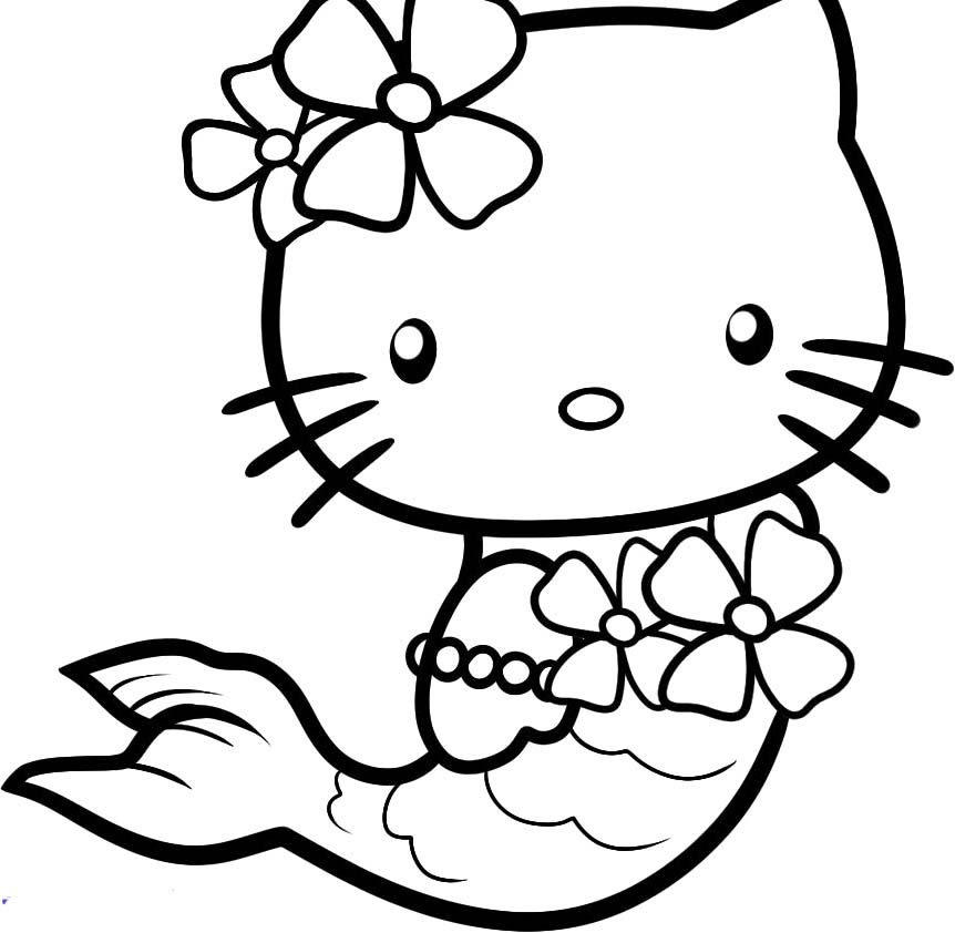 Kitty Coloring Pages At Getcolorings Com Free Printable Colorings