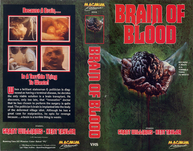 Brain Of Blood (VHS Box Art)