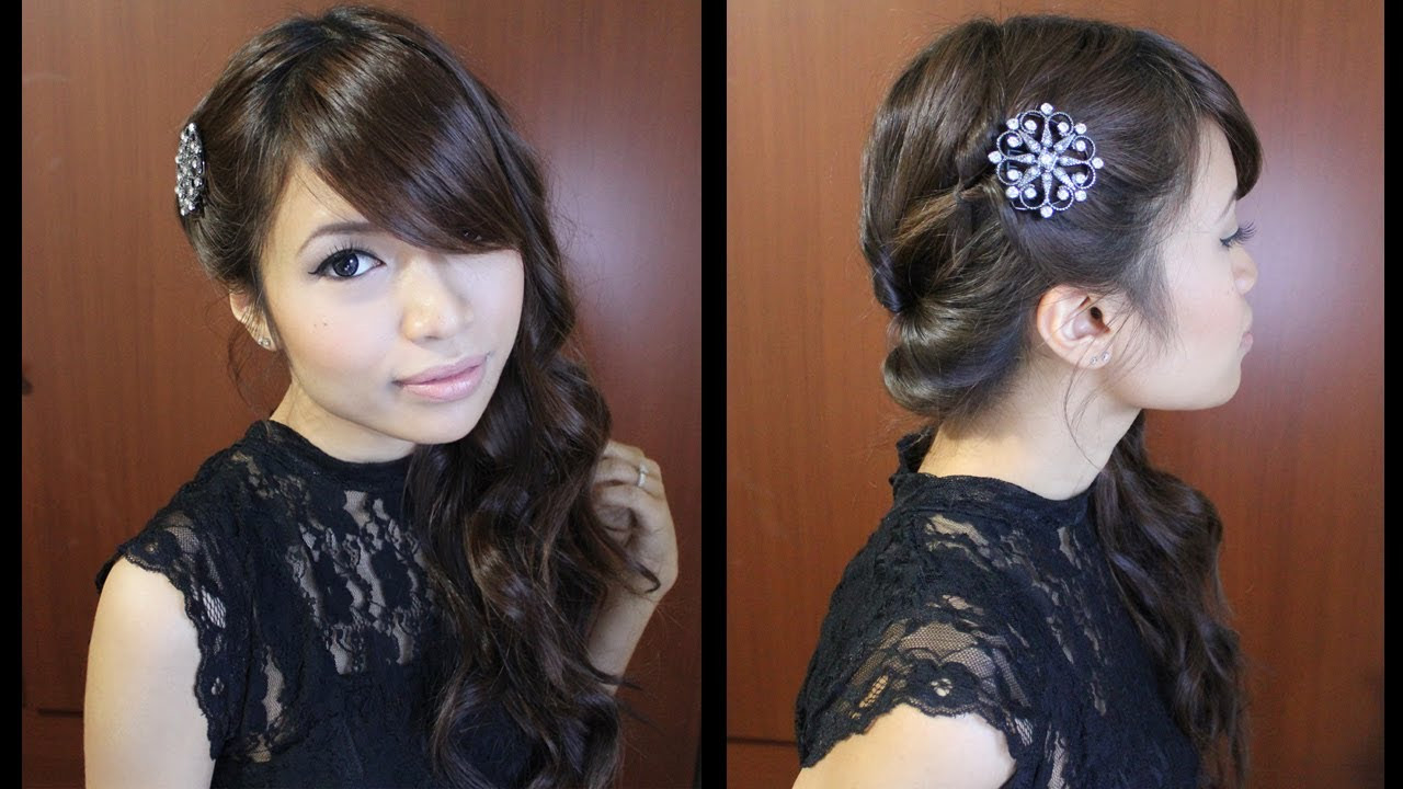 Prom Hairstyles For Medium Hair Side Swept Haircuts
