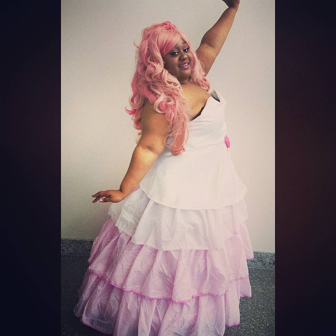 Behold as I give you space goddess realness!!! 🌠💖🌹 Rose Quartz🌹💖🌠 The ultimate labor of love for one of my characters! 😍 Also my step back into the cosplay world! - 💖 x-cupcakegeisha