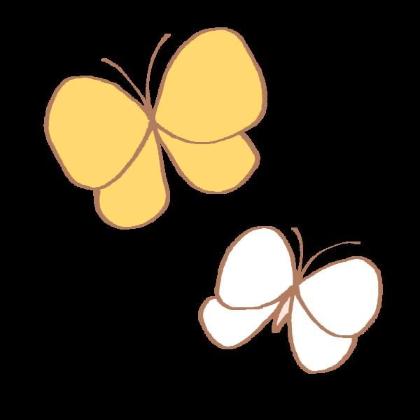 モンキチョウとモンシロチョウのイラスト かわいいフリー素材が無料の