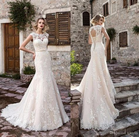 2017 New Arrival Beautiful Lace Mermaid Wedding Dresses