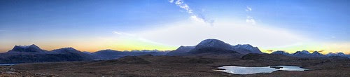 Wester Ross Dawn Panorama by jimlaide