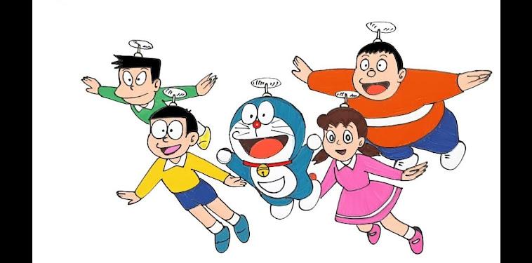 Doraemon Cartoon Characters Drawing