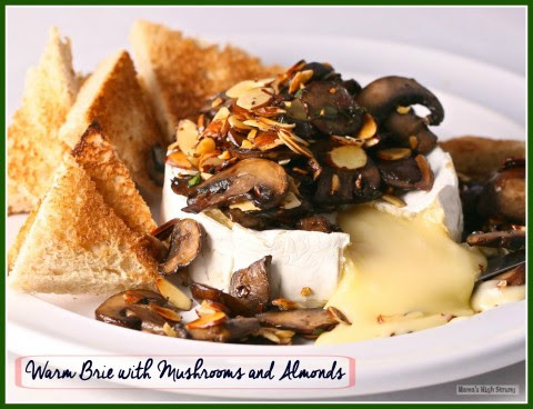 Warm Brie with Mushrooms and Almonds CU pic