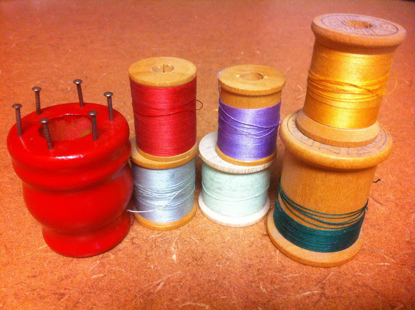 Grandma's Thread and a Knitting Spool