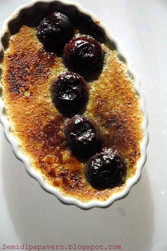 Creme brulee alle ciliege