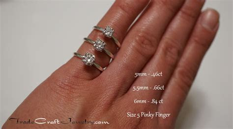 Stone Size Comparisons with Hand Shots ? Tradecraft Jewelry
