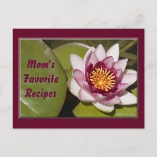 Pink Water Lily Photograph postcard