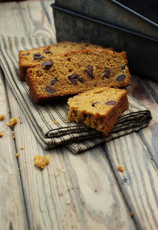 Pumpkin Espresso Chocolae Chip Bread