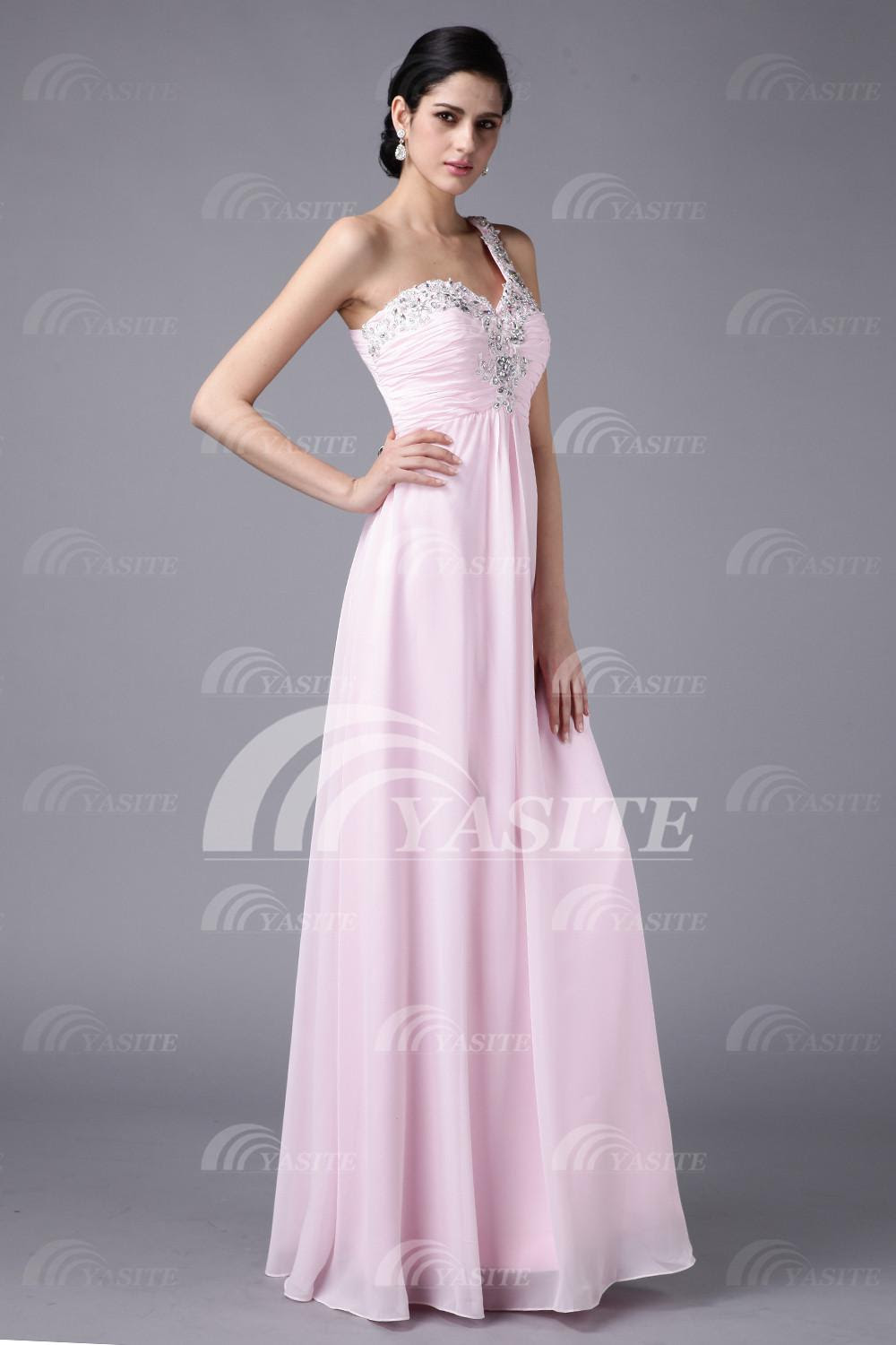 Pale pink evening dresses