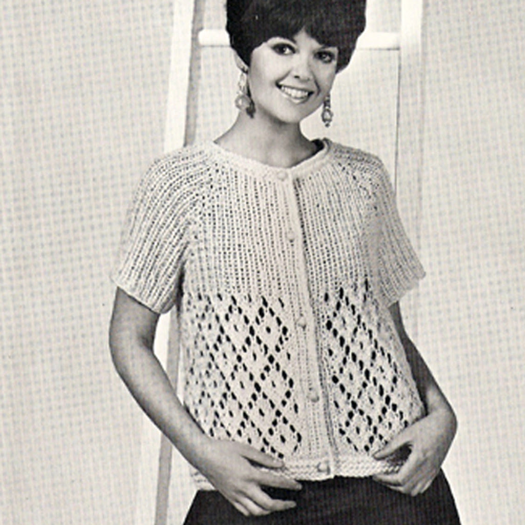 Two Skein Knitted Cardigan Pattern with Short Sleeves
