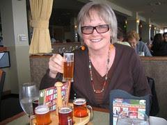 Tutu enjoys her round of beers