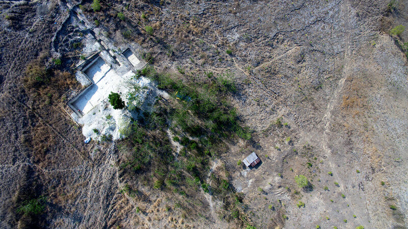 This aerial image taken in October 2015 shows the Mata Menge site on Flores where bones dating back 700,000 years were found.