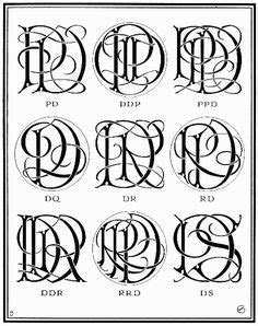 MFC Baelon Monogram font   One, two, or three letter