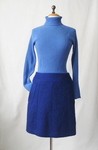 Skirt made from blue coat