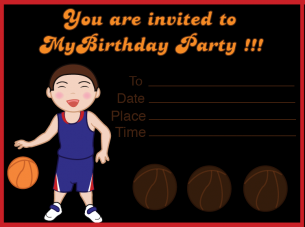 free printable basketball invitations