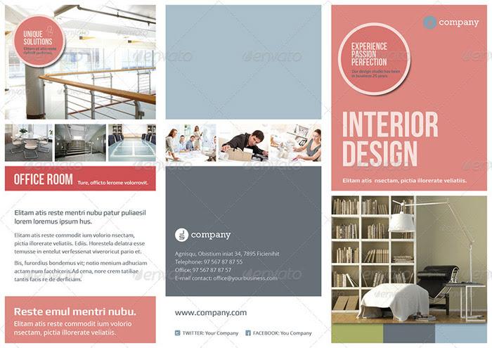20 + Interior Design Brochure and Print Templates