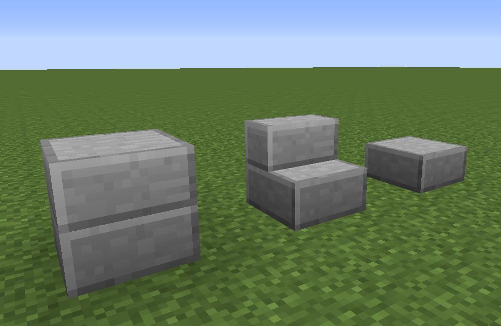 Smooth stone slab minecraft black corner brace