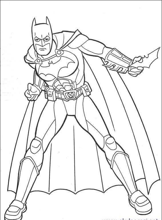 Batman Boyama Sayfasi 2 Okul öncesi Etkinlik Faliyetleri