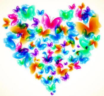 сердечко из бабочек