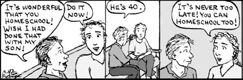 Home Spun comic strip #494