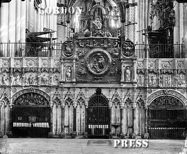 Órgano de la Catedral de Toledo hacia 1875-80. © Léon et Lévy / Cordon Press - Roger-Viollet