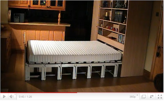 Small Space Furniture #16: High Tech Hideaway Bed And How It Works