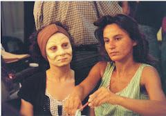 Estudiando Maquillaje Artistico en el Teatro Colon