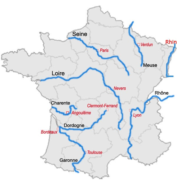 Cartina Germania Con Fiumi.Idrografia Francia