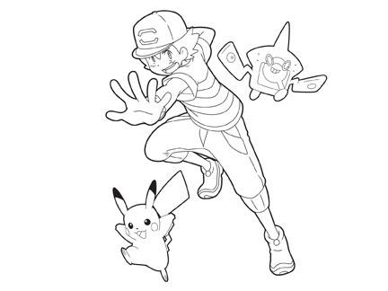 Sacha Et Pikachu Coloriages Goodies Pokémon Dessins Animés