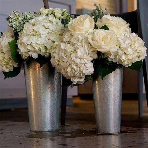 Galvanized French Flower Market Buckets