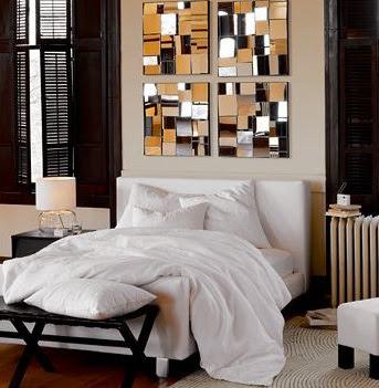 Statement Mirror - Bedroom decorating ideas