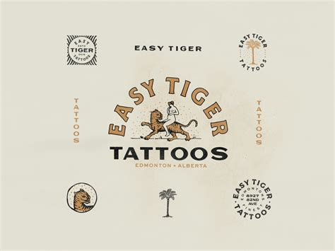 easy tiger tattoo  mainstay graphic design  dribbble