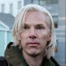 Benedict Cumberbatch, left, as Julian Assange and DanielBrühl in