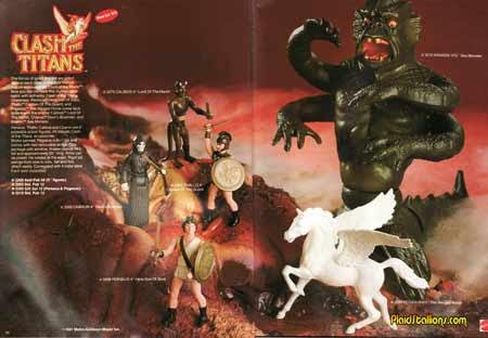mattel clash of the titans catalog