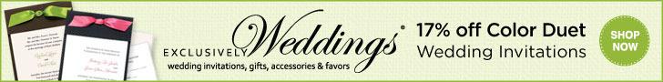 Spring Invitation Sale - 17% off Color Duet Weddin