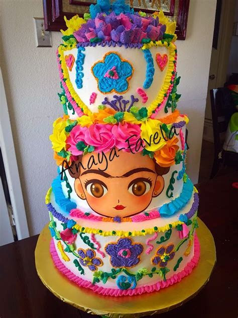 Frida cake!! Mexican cake!!! Pastel estilo mexicano de