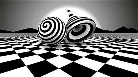 Black White Optical Illusion, HD 3D, 4k Wallpapers, Images