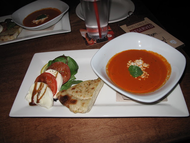 CAPRESE SALAD/FIRE-ROASTED TOMATO BISQUE