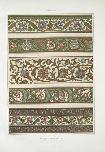 mosquée d'El-Bordeyny - frises et bordures des petites chambres (XVIIe. siècle)