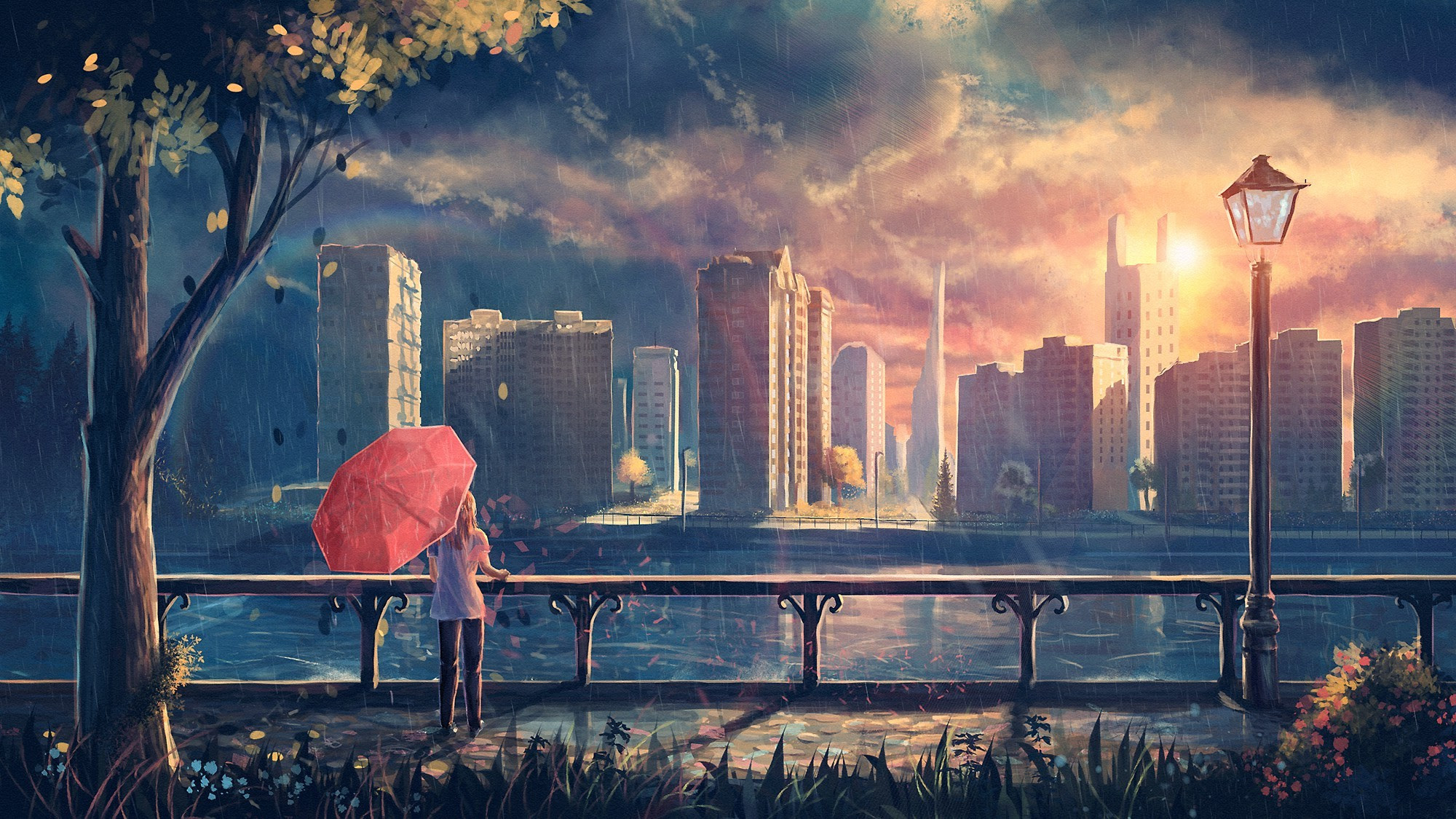 Anime City Wallpapers (80+ images)