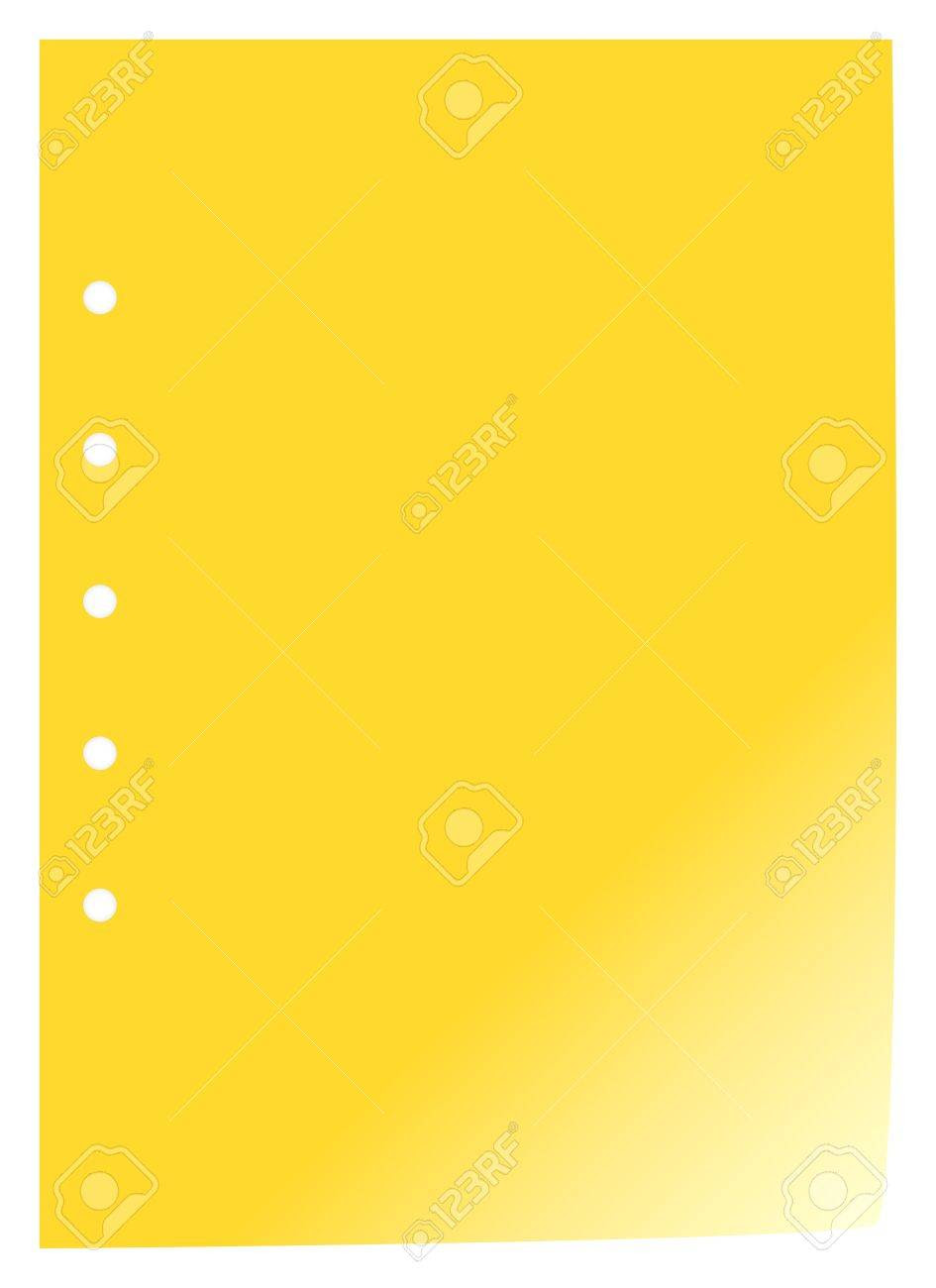 Blank Yellow Page With Holes Royalty Free Cliparts, Vectors, And ...