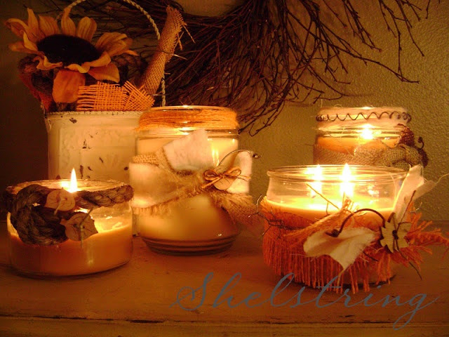 Dress up plain candles.