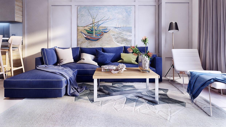 royal-blue-sofa   Interior Design Ideas.