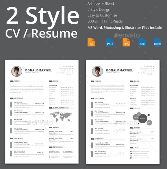 plantilla CV resume word