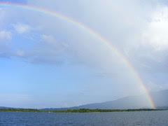 Rainbow over El Golfete - DSCF2605