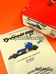 Maqueta de coche 1/20 Model Factory Hiro - Tyrrell Ford 006 ELF Nº 5, 6 - Jackie Stewart, Francois Cevert - Gran Premio de Alemania + Gran Premio de Holanda 1973 - kit multimaterial image